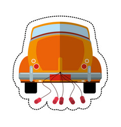Car just married transport vector