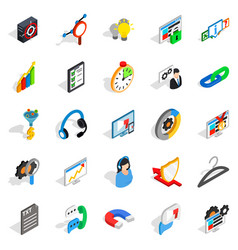 cloud icons set isometric style vector image vector image