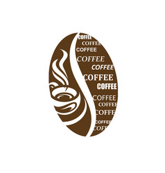 coffee label image vector image