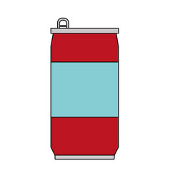 Color image cartoon soda can of drinks vector