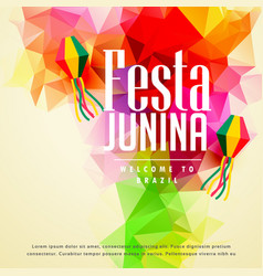 Colorful festa junina greeting background vector