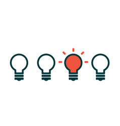 concept creative idea with light bulb vector image