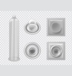 Condom latex contraceptive for man penis vector