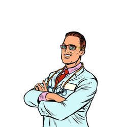 confident doctor medical profession vector image