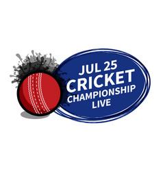 Cricket sport scoreboard spotlight background vector