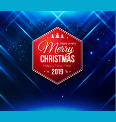 design template for poster or card festive blue vector image