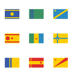 Fictional flags countries one vector