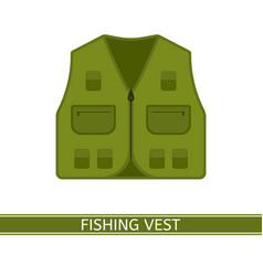 Fishing vest isolated vector
