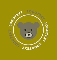 Flat icon on background bear logo vector