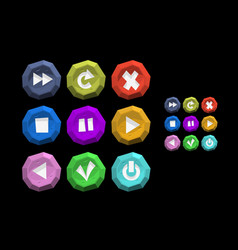 game ui interface buttons game art icons menu vector image