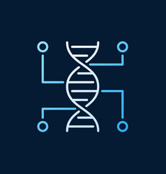 Genetic testing colored outline icon dna vector