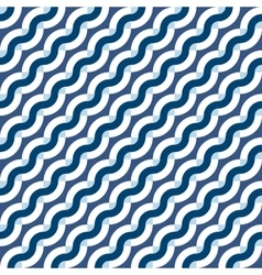 Geometric seamless pattern with diagonal waves vector image