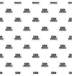 Gmo free badge pattern seamless vector