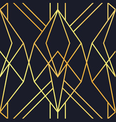 gold black abstract art deco seamless pattern vector image