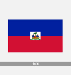haiti haitian national country flag banner icon vector image