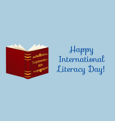 Happy international literacy day vector