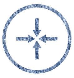 impact arrows fabric textured icon vector image