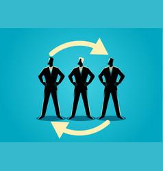 job rotation symbol vector image
