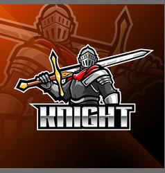 Knight esport mascot logo design vector