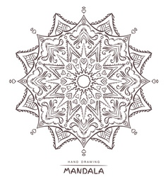 Mandala with decorative elements for coloring vector