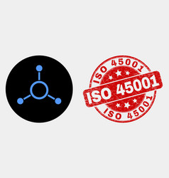 masternode links icon and scratched iso vector image