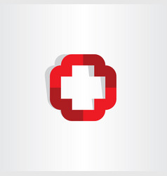 Medical cross symbol icon logo element vector