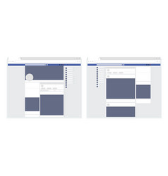 modern set social network web page post frames vector image