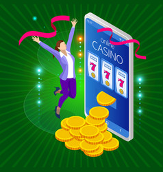 online casino concept big slots casino vector image