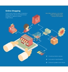 Online shopping infographics scheme vector