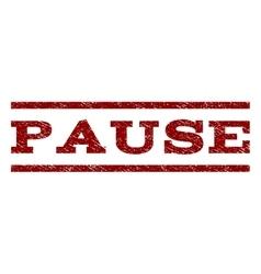 Pause Watermark Stamp vector