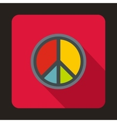 Peace symbol icon flat style vector image