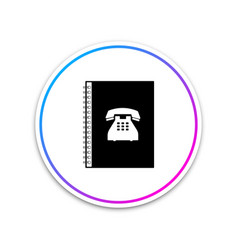 phone book icon address book telephone directory vector image