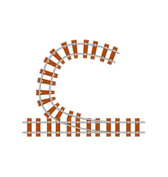railroad switch point vector image