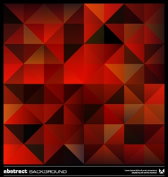 Red triangles background vector image