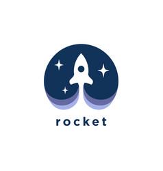 rocket launch logo icon vector image