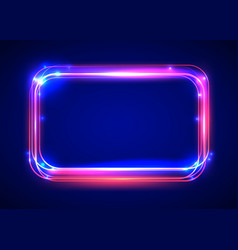 round light frame shining square banner vector image