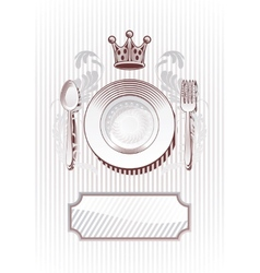 Royal Diner vector image