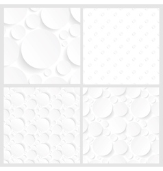 set of four seamless white backgrounds vector image