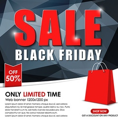 Set of web banner for sales on Black Friday vector