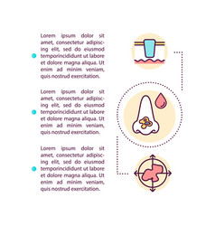 Skin cancer symptom concept icon with text vector