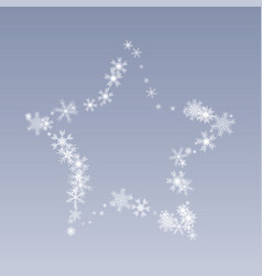 snow star a star of beautiful snowflakes vector image