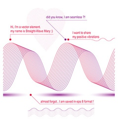 Sophisticated 3d curve decoration clear eps8 vector image