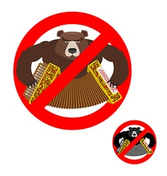 Stop russian it is forbidden to people of russia vector