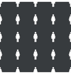 Straight black woman sign pattern vector image