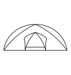tourist semicircular tent icon outline style vector image