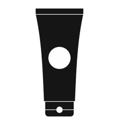 Tube of lubricant gel icon simple style vector image