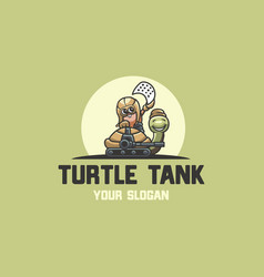 turtle tank logo vector image