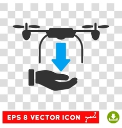 Unload Drone Eps Icon vector image