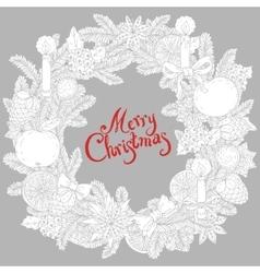 Vignette of Christmas wreath vector