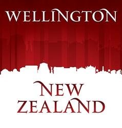 Wellington New Zealand city skyline silhouette vector image